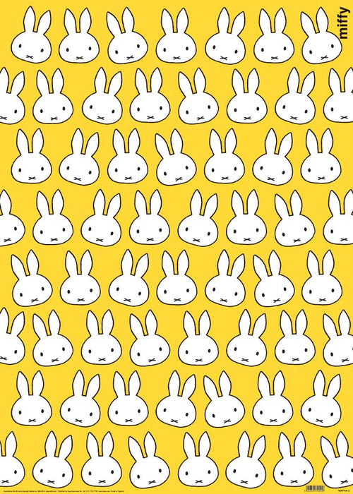 Miffy Head Yellow Giftwrap - souzu.co.uk