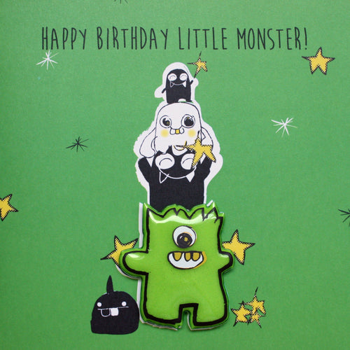 Little Monster Birthday Card - souzu.co.uk