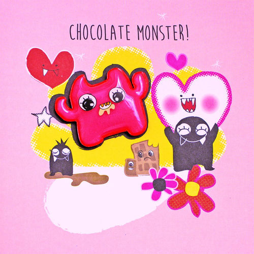 Pink Chocolate Monster card
