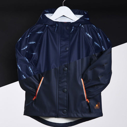 Reflective Lightning Bolt Rain Jacket - souzu.co.uk