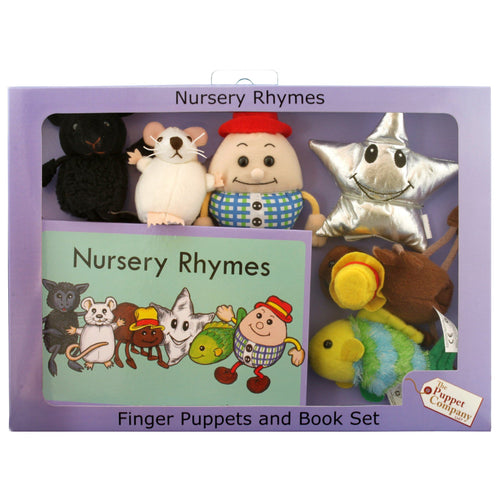 Nursery Rhymes Finger Puppets & Book Set Boxed - souzu.co.uk