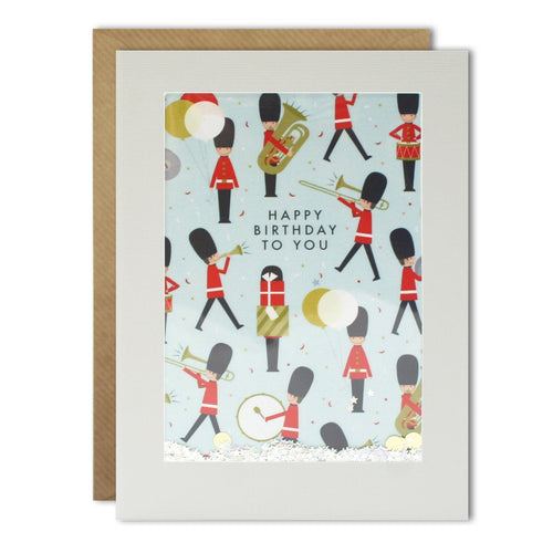 Brass Band Pattern Rectangular Shakies Card - souzu.co.uk