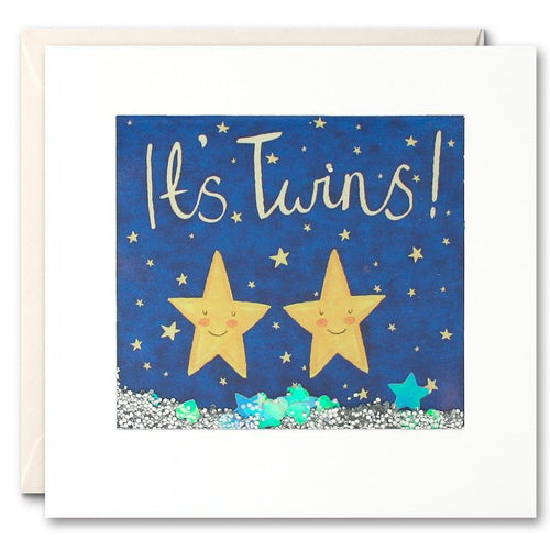 Star Twins Stork Shakies Card - souzu.co.uk