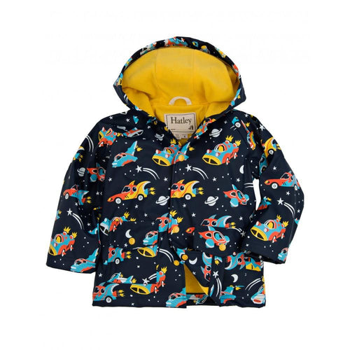 Space Cars Raincoat - souzu.co.uk