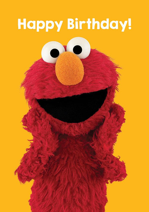 Sesame Street Elmo Birthday Card - souzu.co.uk