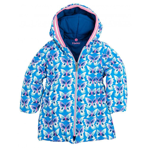 Icy Butterflies Reversible Puffer