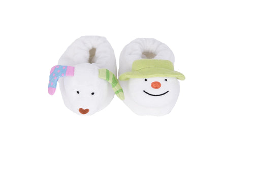 The Snowman and The Snowdog My First Christmas Jingle Bell Booties Set - souzu.co.uk