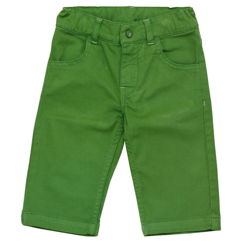 Green Cut-Off Trousers