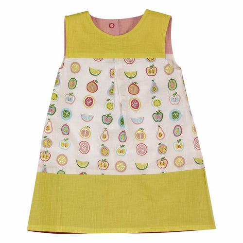 Reversible Fruit Shift Dress - souzu.co.uk