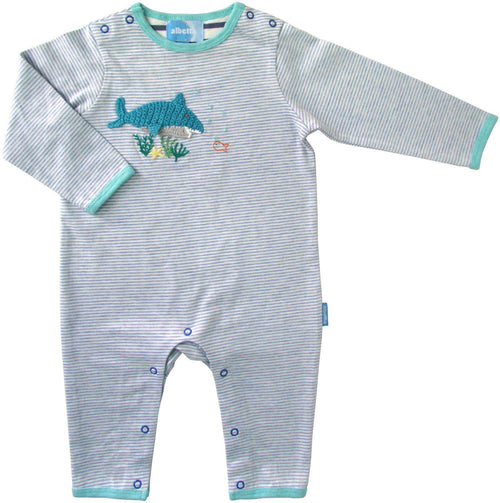 Sharky Crochet Babygrow - souzu.co.uk