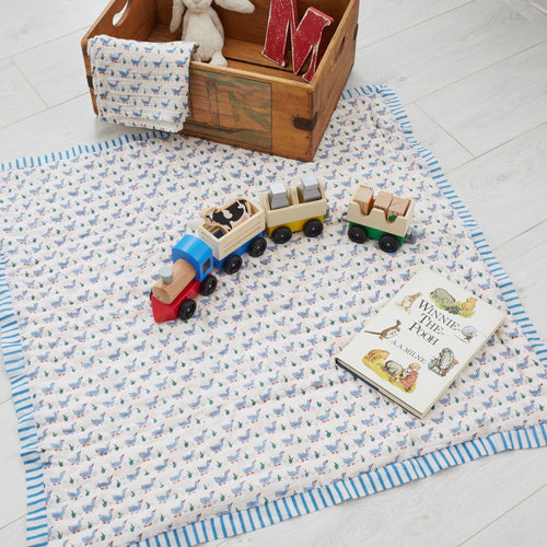 Blue Duck Baby Quilt - souzu.co.uk