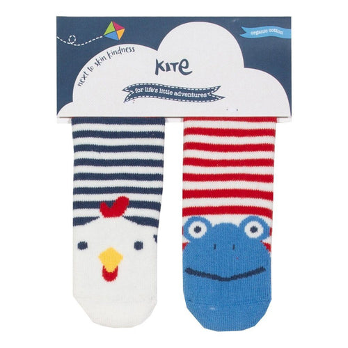 Hen and Frog 2 pack grippy socks