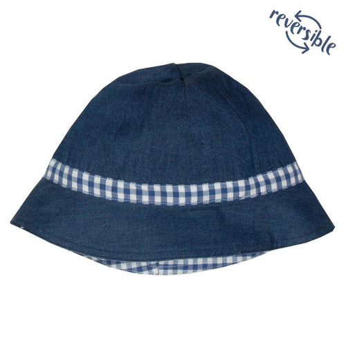 Gingham sun hat - souzu.co.uk