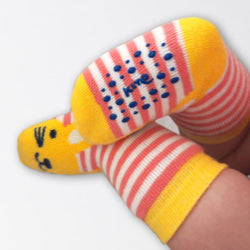 Bunny and Kitten 2 pack grippy socks - souzu.co.uk
