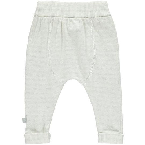 White and Grey Striped Mix Pants - souzu.co.uk