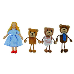 Goldilocks & The Three Bears - Traditional Puppet Story Set - souzu.co.uk