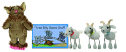 Three Billy Goats Gruff Finger Puppets & Book Set