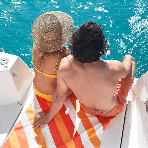 Sway Beach Orange Large Towel