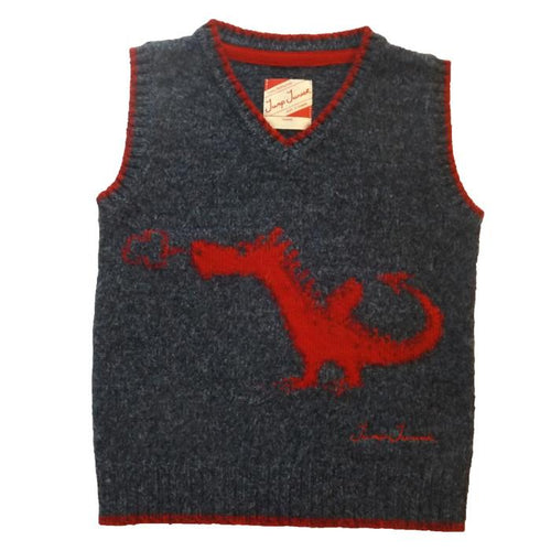 Dragon Merino Tank Top - red dragon - souzu.co.uk