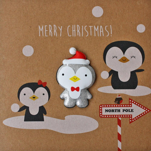 Merry Christmas Penguin Card - souzu.co.uk