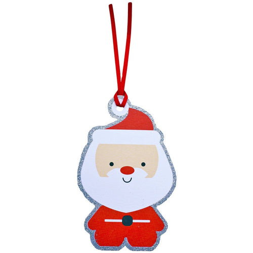 Santa Gift Tags Pack of 6 - souzu.co.uk