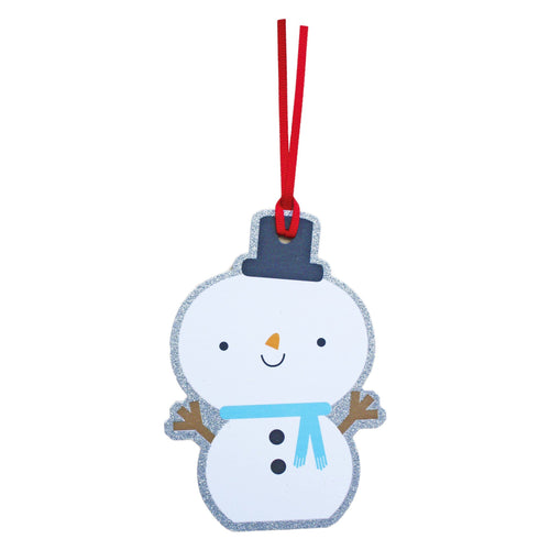 Snowman Gift Tags Pack of 6 - souzu.co.uk