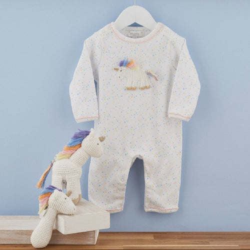 Rainbow Unicorn Babygrow - souzu.co.uk