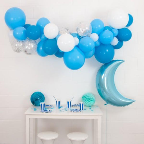 DIY Baby Blue Garland - souzu.co.uk