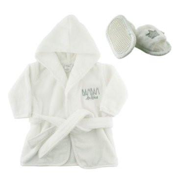 Bath Robe & Slippers Gift Set - souzu.co.uk