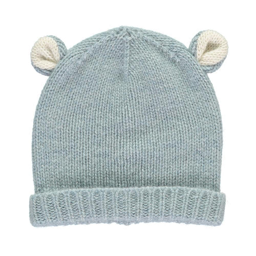 Duck Egg Cashmere Bear Hat - souzu.co.uk