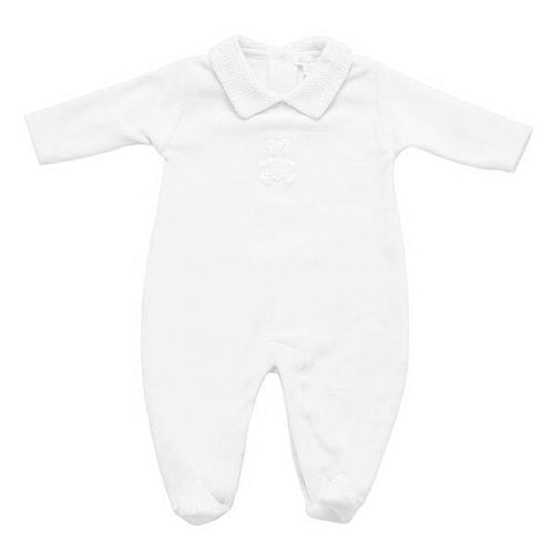 White Honey Bear Babygrow - souzu.co.uk
