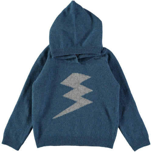 Bijou Blue Lightning Bolt Hoody - souzu.co.uk