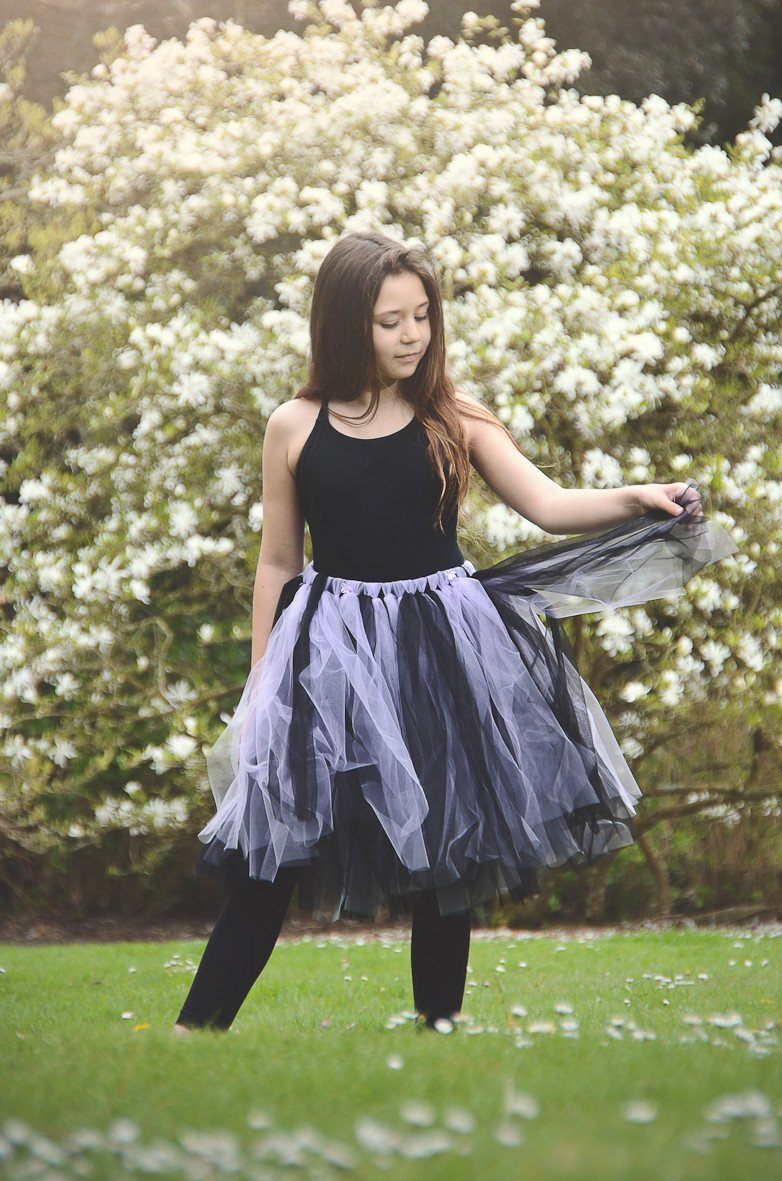 Dark Lilac Blush Skirt - souzu.co.uk
