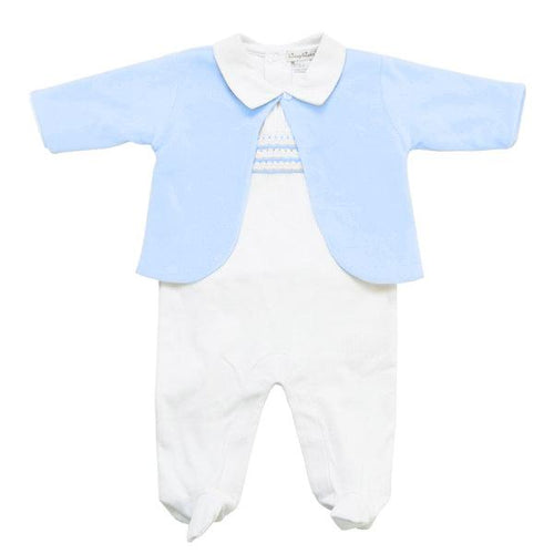 Blue Jacket & Babygrow Set - souzu.co.uk
