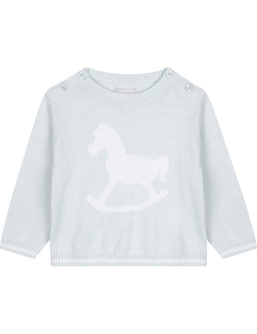 Blue Rocking Horse Jumper - souzu.co.uk
