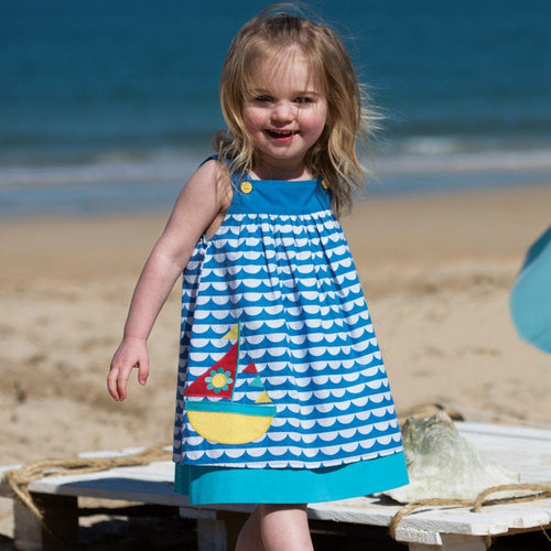 Boat Border Dress - souzu.co.uk