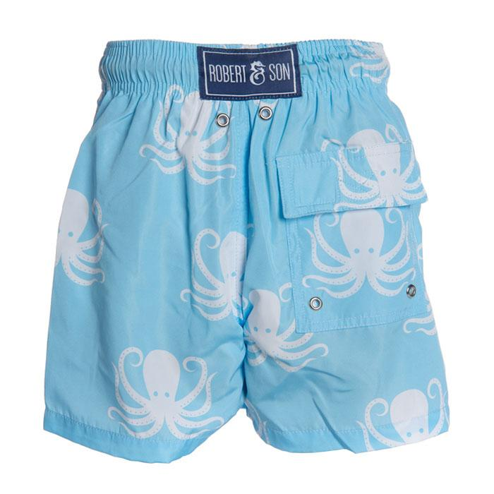 Father & Son Blue Octopus Swim Shorts - souzu.co.uk