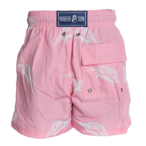 Father & Son Pink Turtle Swim Shorts - souzu.co.uk