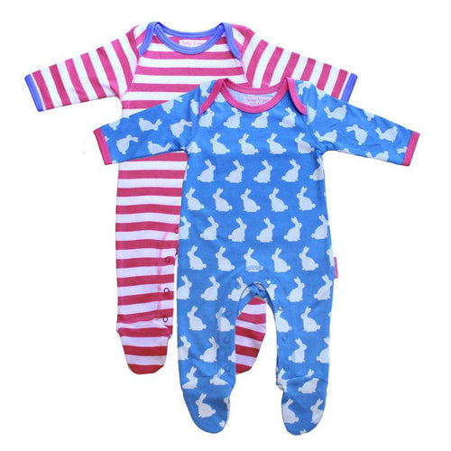 Bunny Sleepsuit - 2 pack - souzu.co.uk