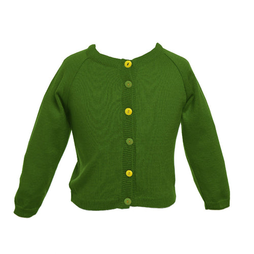 Classic Green Cardigan - souzu.co.uk