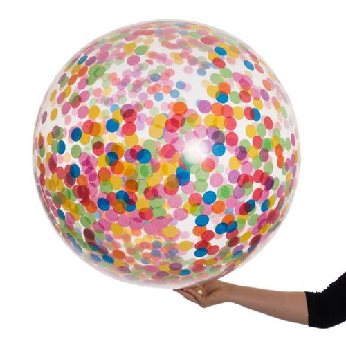 Rainbow Giant Confetti Balloon - souzu.co.uk