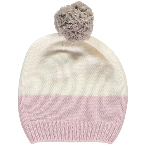Dusty Rose and Cream Hat - souzu.co.uk