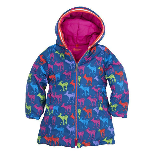 Graphic Deer's Reversible Puffer - souzu.co.uk