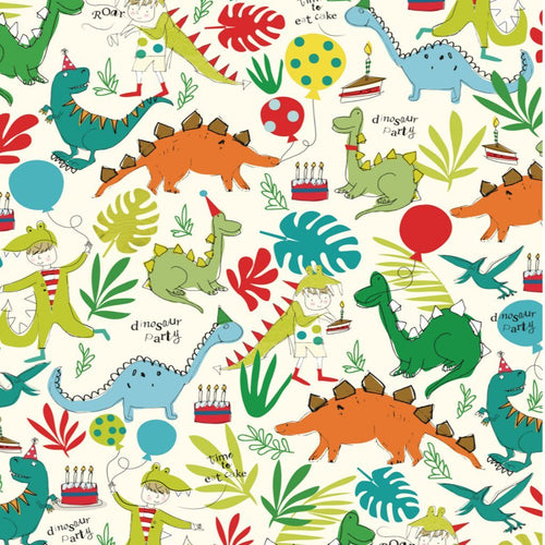 Dino Wrapping Paper - Caroline Gardner - souzu.co.uk