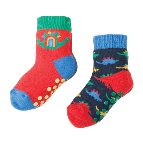eb1d82b0bff Dino Grippy Socks -Pack of 2 - souzu.co.uk