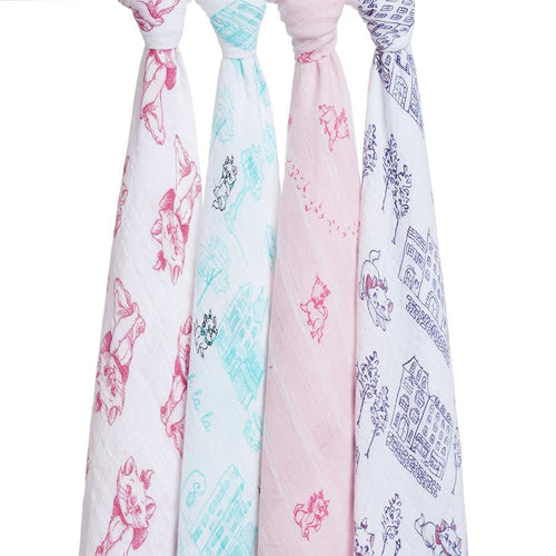 The Aristocats Swaddles - Pack of 4 - souzu.co.uk