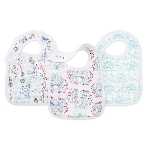 Bambi 3-Pack Snap Bibs - souzu.co.uk