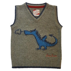 Dragon Merino Tank Top - blue dragon - souzu.co.uk