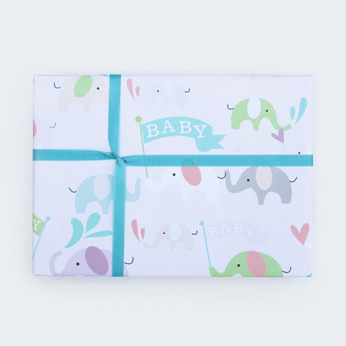 Baby Elephants Gift Wrapping - Caroline Gardner