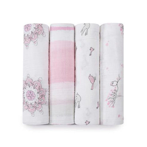 For the Birds Swaddle Pack of 4 Aden + Anais